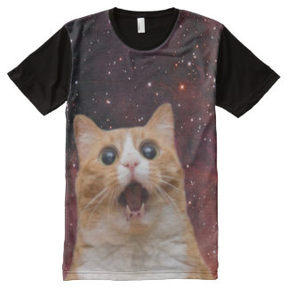 scaredy cat in space All-Over-Print shirt