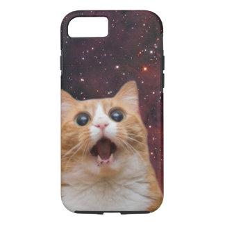 scaredy cat in space iPhone 8/7 case