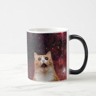 scaredy cat in space magic mug