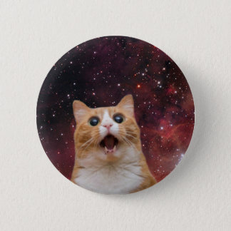 scaredy cat in space pinback button