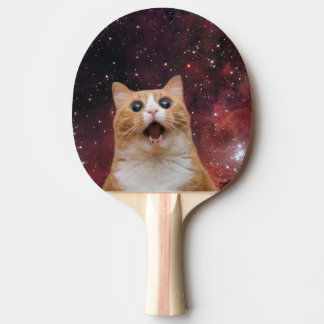 scaredy cat in space Ping-Pong paddle