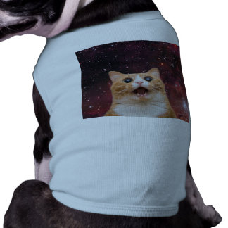 scaredy cat in space shirt