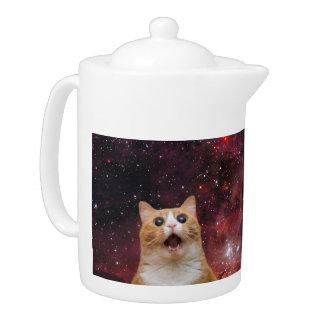 scaredy cat in space teapot