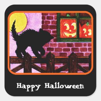 Scaredy Cat Square Sticker