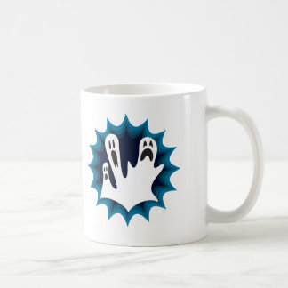 Scaredy Ghosts Classic White Coffee Mug