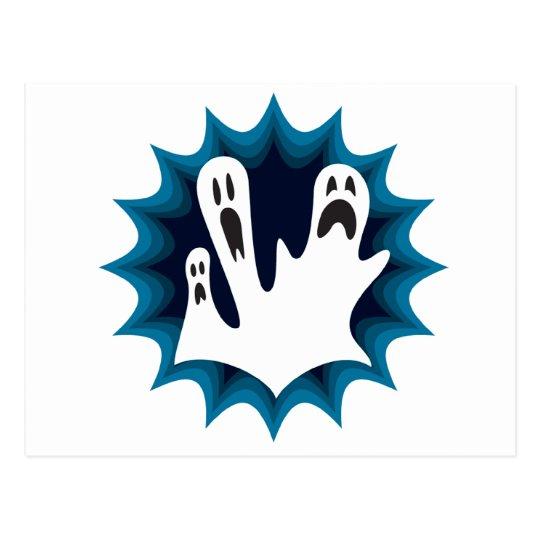 Scaredy Ghosts Postcard