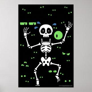 Scaredy-Huesos (ojos fantasmagóricos) Póster