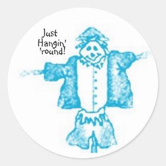scaredycrow3, Just, Hangin', 'round! Classic Round Sticker
