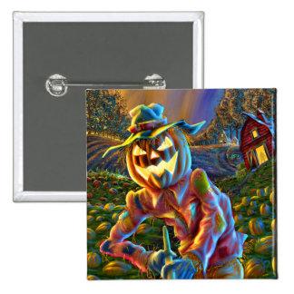 ScareJack O Lantern Scarecrow Square Button