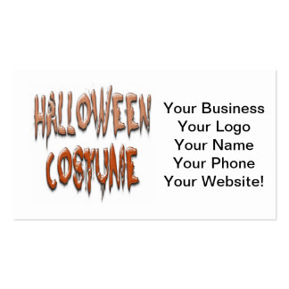 Scarey Halloween Costume Double-Sided Standard Business Cards (Pack Of 100)