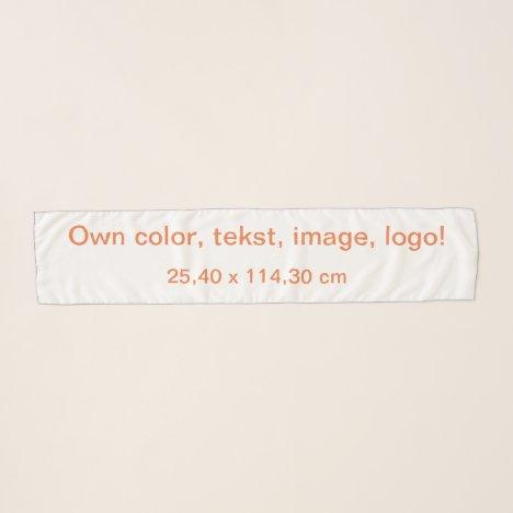 Scarf Chiffon Long uni White - Own Color