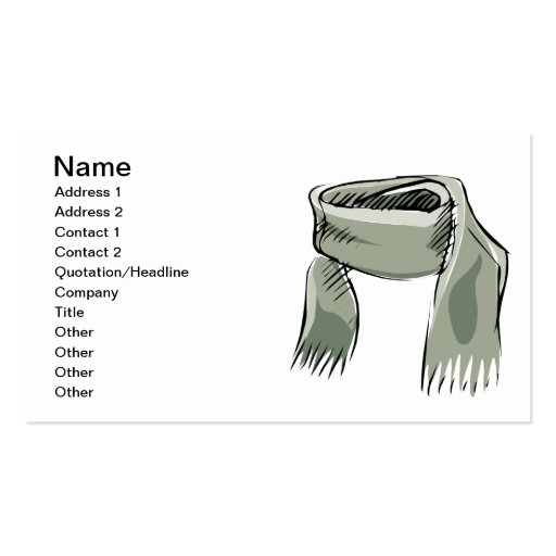 Scarf Double-Sided Standard Business Cards (Pack Of 100)