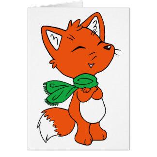 Scarf Fox Card