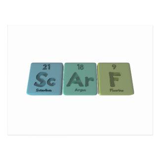 Scarf-Sc-Ar-F-Scandium-Argon-Fluorine.png Postcard