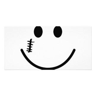 Scarface smile photo card