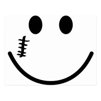 Scarface smile postcard
