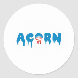 Scaring ACORN Round Stickers