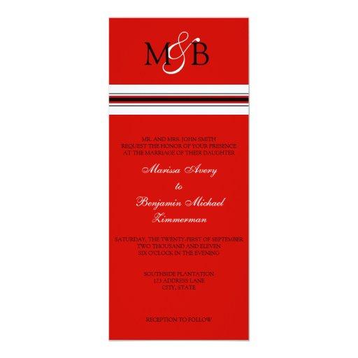 "Scarlet 4"" X 9.25"" Invitation Card"