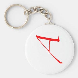 "scarlet ""A"" key chain"