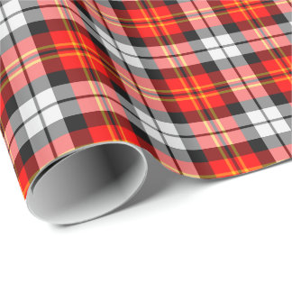 Scarlet and Black Sporty Plaid Gift Wrap