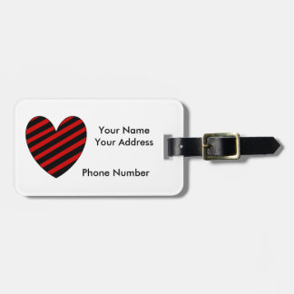 Scarlet and Black Texas Luggage Tag