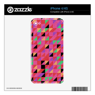 Scarlet and Crimson Triangles Skin For The iPhone 4