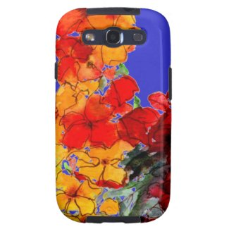 Scarlet and Orange Flowers Samsung Galaxy S3 Case