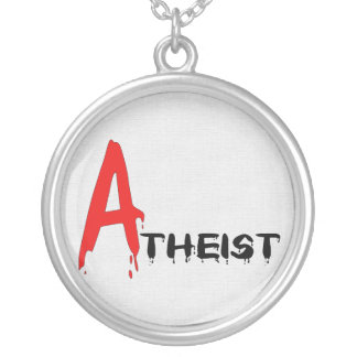 Scarlet Atheist Round Pendant Necklace