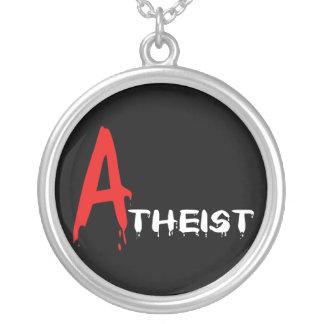 Scarlet Atheist Round Pendant Necklace