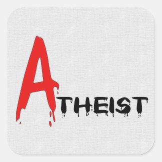 Scarlet Atheist Square Sticker