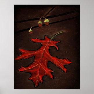 Scarlet Autumn Poster