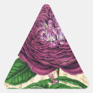 Scarlet Beauty Rose Triangle Sticker