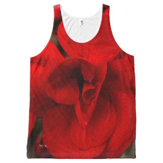 Scarlet Begonias All-Over Print Tank Top