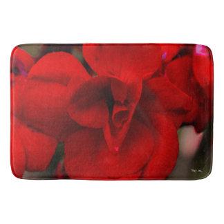 Scarlet Begonias Bath Mat