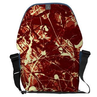 SCARLET BILLOWS ~ (abstract art design) ~ Courier Bag