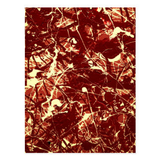 SCARLET BILLOWS ~ (abstract art design) ~ Post Cards