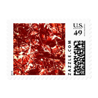 SCARLET BILLOWS (an abstract art design) ~.jpg Postage
