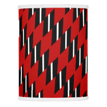 Scarlet Black and White Faux Weave Patterned Lamp Shade
