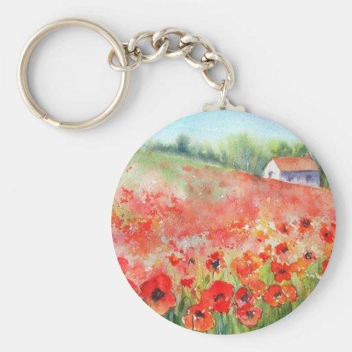 Scarlet Carpet Basic Round Button Keychain