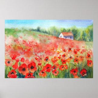 Scarlet Carpet Print