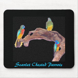 Scarlet Chested Parrots mousepad