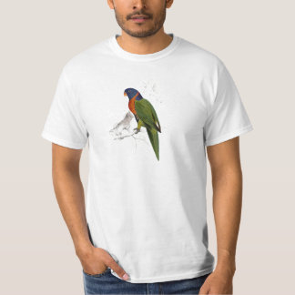 Scarlet-Collared Parrakeet by Edward Lear T-Shirt