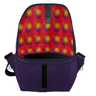Scarlet Contrast Messenger Bag