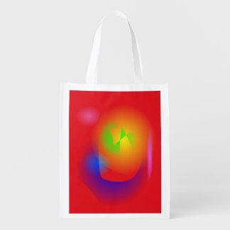 Scarlet Contrast Reusable Grocery Bag