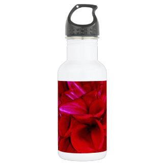 Scarlet Dahlia petals 18oz Water Bottle
