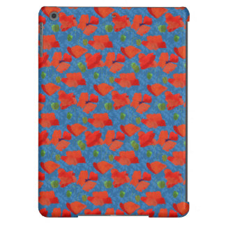 Scarlet Field Poppies on Blue iPad Case-Mate Case iPad Air Covers