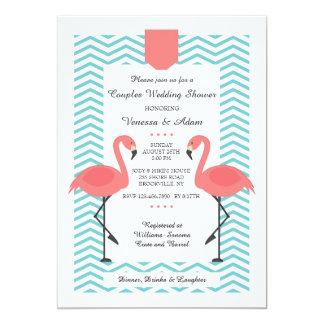 Scarlet Flamingos Invitation