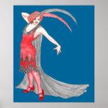 Scarlet Flapper Print