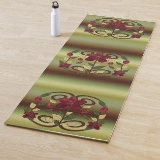 Scarlet Flora Yoga Mat