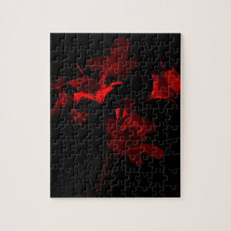 Scarlet Foil Bouquet Jigsaw Puzzle